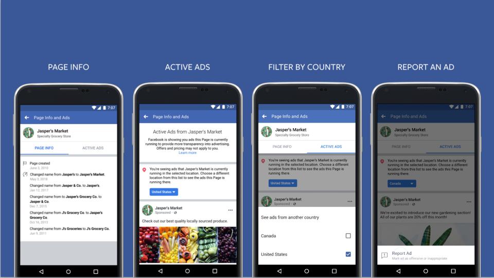 Новый уровень прозрачности для рекламы в Facebook